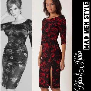 0daf803a Black Halo Womens Three Quarter Sleeve Dress Black